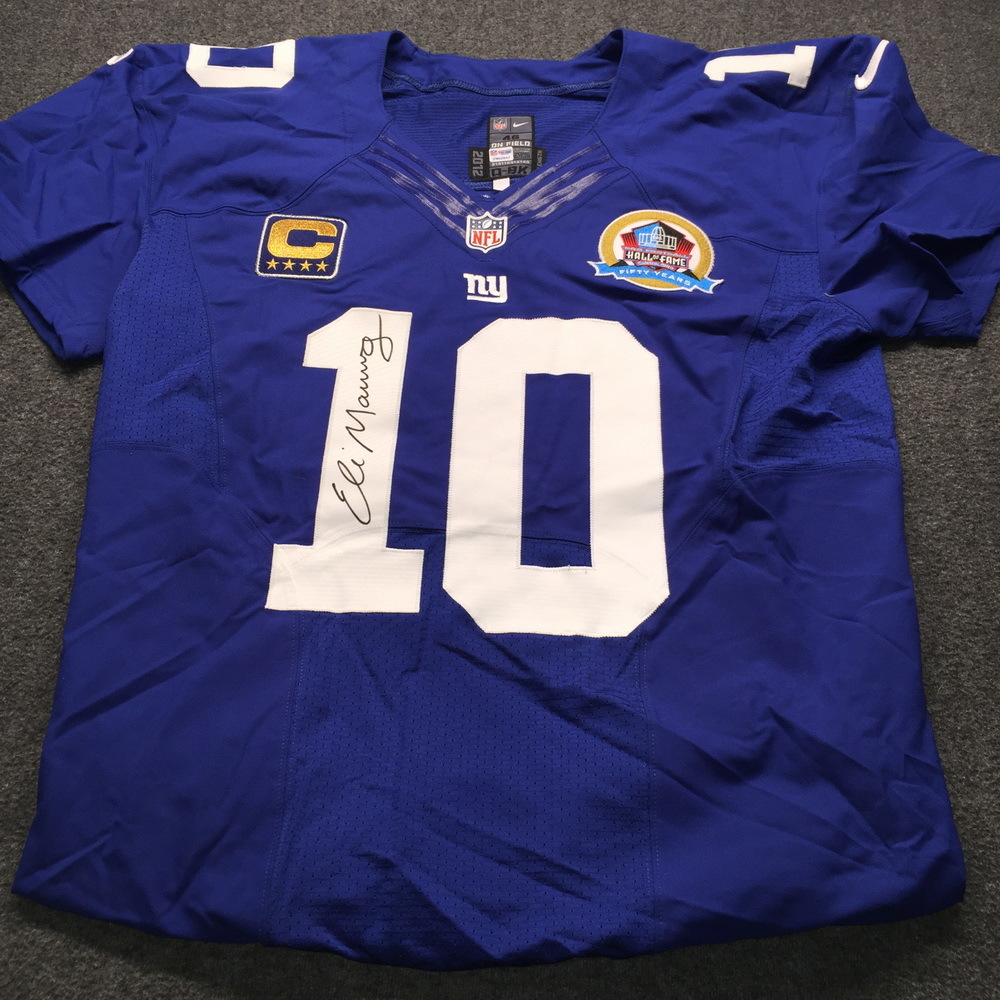 NFL Auction | HOF - Giants Eli Manning 2012 Signed and Game Issued ...