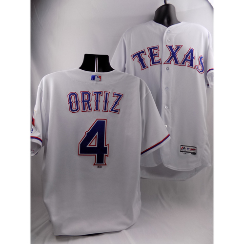 Photo of 3/29/18 - Game-Used White Jersey - Hector Ortiz