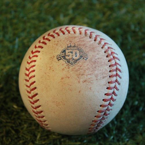 Photo of Game-Used Baseball: Logan Forsythe 680th Career Hit (MIN @ KC - 9/16/18)