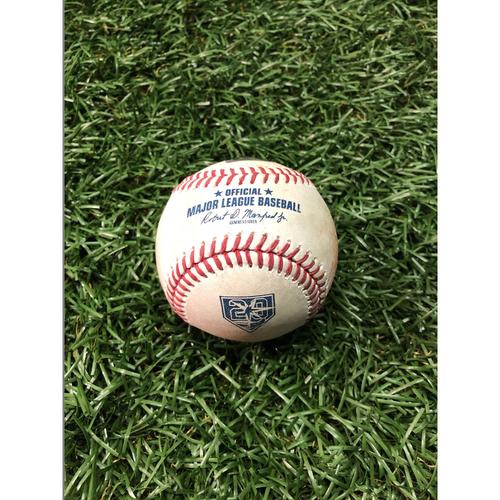 20th Anniversary Game Used Baseball: Mallex Smith double off Jose Fernandez - September 28, 2018 v TOR