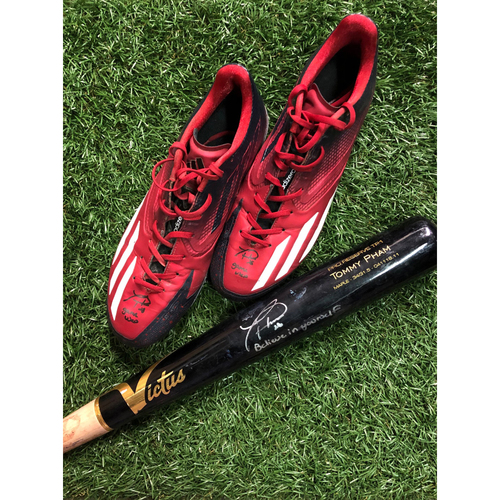 Photo of National Keratoconus Foundation Auction: Tommy Pham Autographed Cleats (Size 11.5) and Autographed Broken Bat