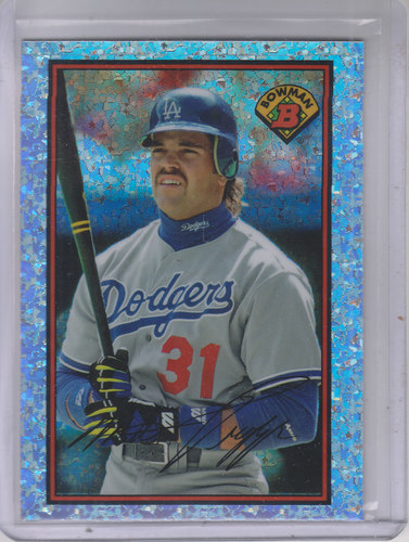 Photo of 2014 Bowman '89 Bowman is Back Silver Diamond Refractors #BIB89MP Mike Piazza BC