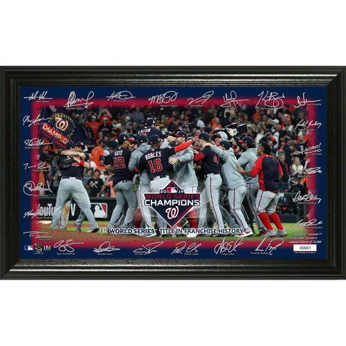 "Photo of Washington Nationals 2019 World Series Champions ""Celebration' Signature Field"