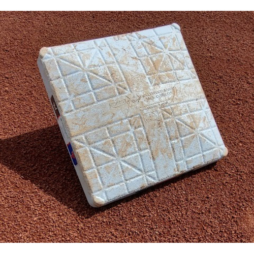 Photo of 2021 Phillies Game-Used 2nd Base - Didi Gregorius Grand Slam, Andrew McCutchen 2-HR game