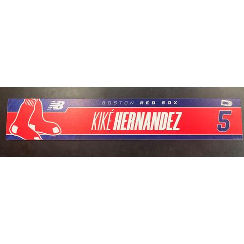 Photo of Enrique Hernandez August 23, 2021 Game Used Locker Tag
