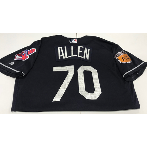 Photo of Greg Allen 2017 Spring Training Jersey