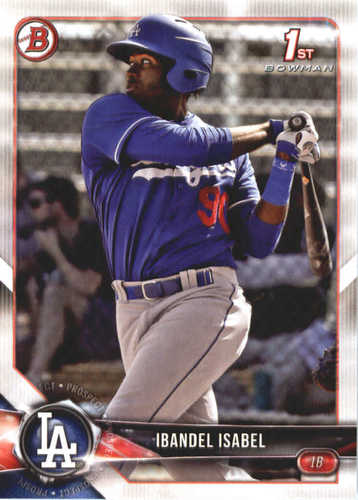 Photo of 2018 Bowman Prospects #BP47 Ibandel Isabel