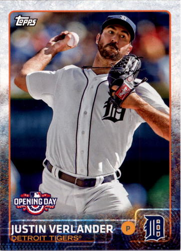 Photo of 2015 Topps Opening Day #122A Justin Verlander