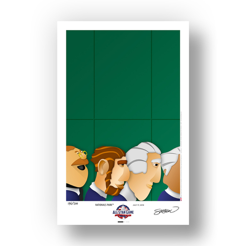 Photo of Limited Edition 2018 All-Star Game Minimalist Ballpark Print by S. Preston