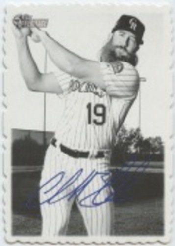 Photo of 2018 Topps Heritage High Number '69 Topps Deckle Edge #4 Charlie Blackmon