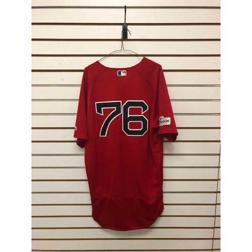 Photo of Hector Velazquez Game-Used September 29, 2017 Home Alternate Jersey