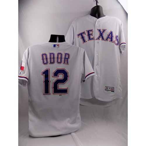 Photo of 3/29/18 - Game-Used White Jersey - Rougned Odor