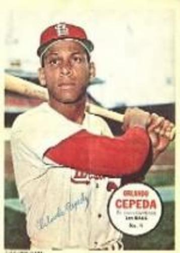 Photo of 1967 Topps Posters Inserts #9 Orlando Cepeda