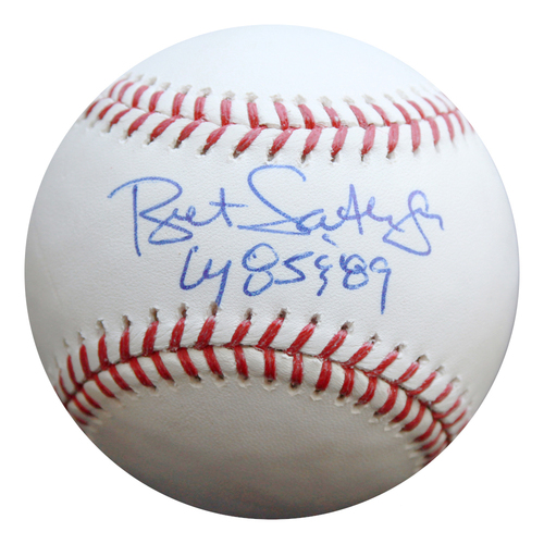 Photo of Autographed Baseball: Bret Saberhagen Cy Young 85 & 89