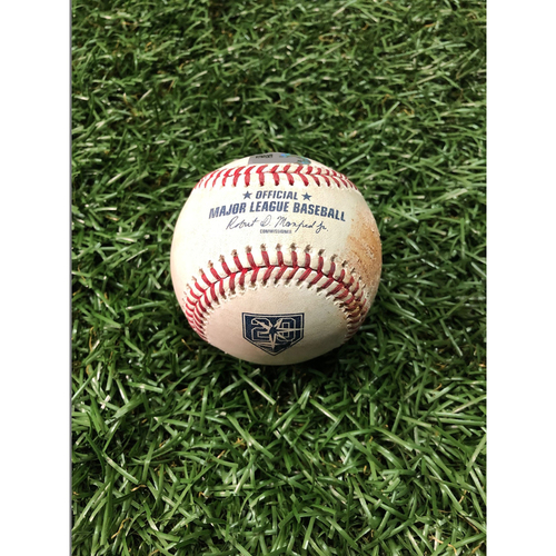Photo of 20th Anniversary Game Used Baseball: Ryan Borucki strikes out Carlos Gomez - September 29, 2018 v TOR