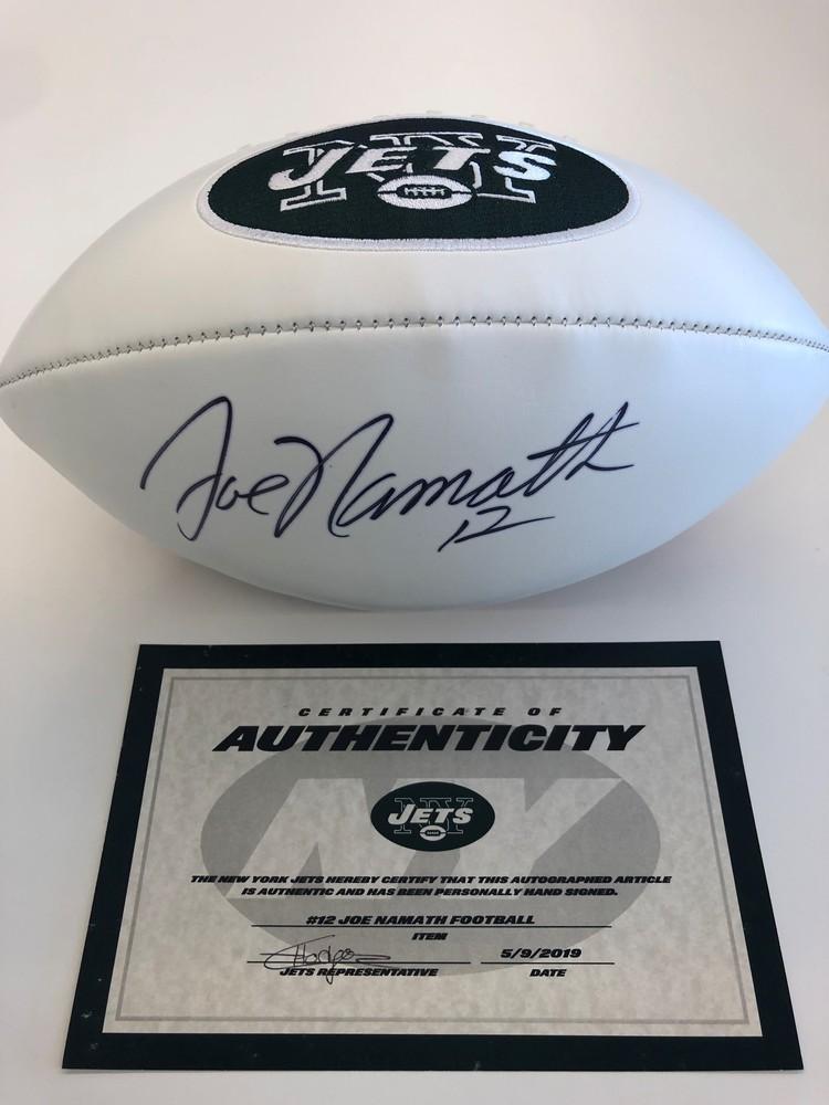 finest selection da833 d957d NFL Auction | New York Jets - Joe Namath - Autographed Football