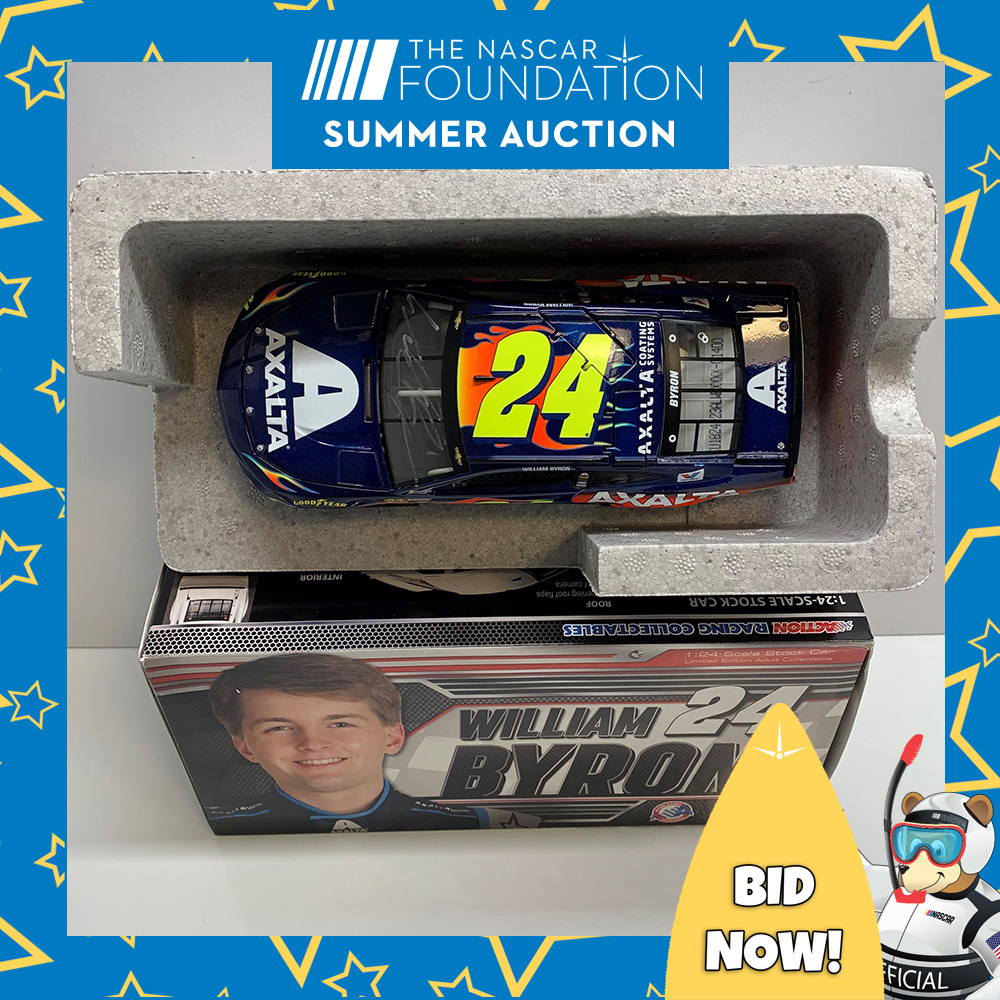 NASCAR's William Byron autographed MENCS Axalta Diecast!