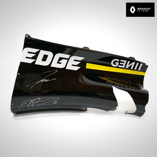 Photo of Renault F1 Team Signed Race-used Quarter Panel depicting 2019 livery