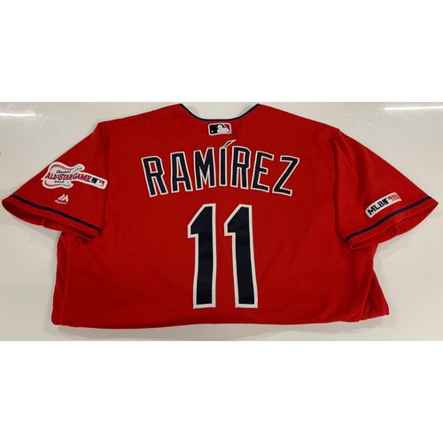 Jose Ramirez Game Used Alternate Home Jersey