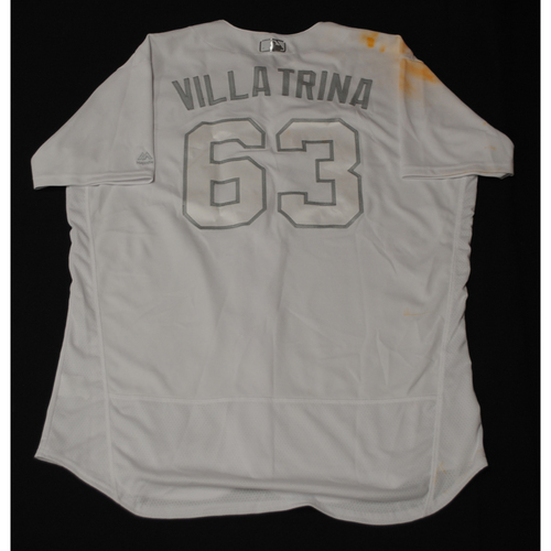 """Photo of Yimi """"Villa Trina"""" Garcia Los Angeles Dodgers Game-Used 2019 Players' Weekend Jersey - Size 50"""