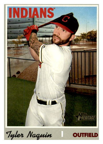 Photo of 2019 Topps Heritage #603 Tyler Naquin