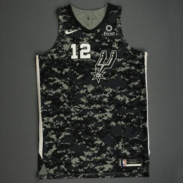 Image of LaMarcus Aldridge - San Antonio Spurs - Game-Worn City Edition Jersey - Scored Team-High 19 Points - 2019-20 Season