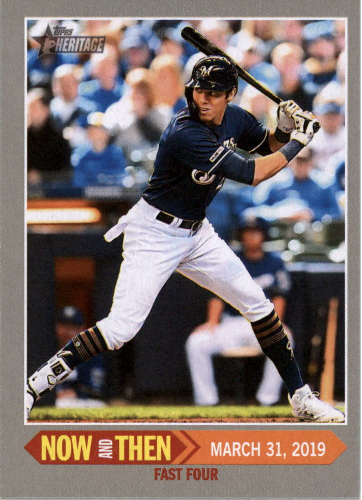 2019 Topps Heritage Now and Then #NT2 Christian Yelich