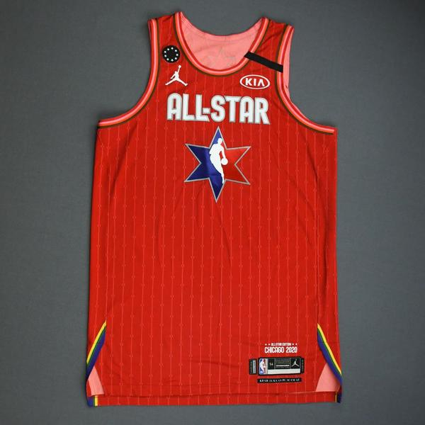 Image of Joel Embiid - 2020 NBA All-Star - Game-Worn Jersey Charity Auction - Team Giannis - 1st and 2nd Quarter - Double-Double