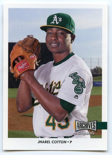 Photo of 2017 Topps Archives Snapshots #ASJCO Jharel Cotton RC