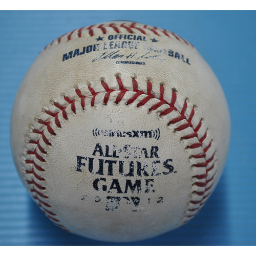 Photo of Game-Used Baseball - 2012 All-Star Futures Game - Pitcher: Dylan Bundy, Batter: Jesus Aguilar - 4th Inning - Pitch in Dirt