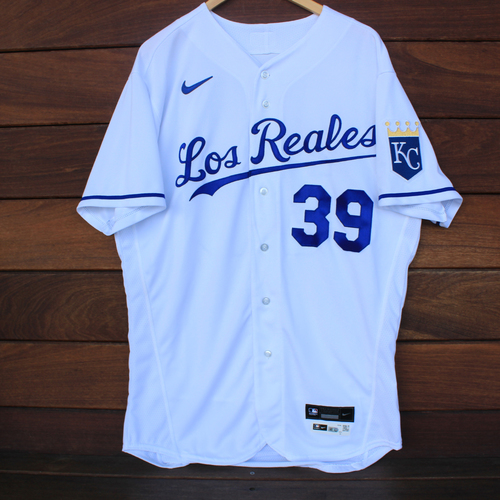 Photo of Game-Used Los Reales Jersey: Tony Pena #39 (SEA@KC 9/17/21) - Size 46