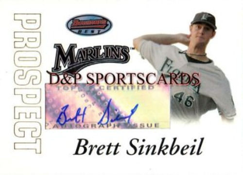 Photo of 2007 Bowman's Best Prospects #BBP49 Brett Sinkbeil AU