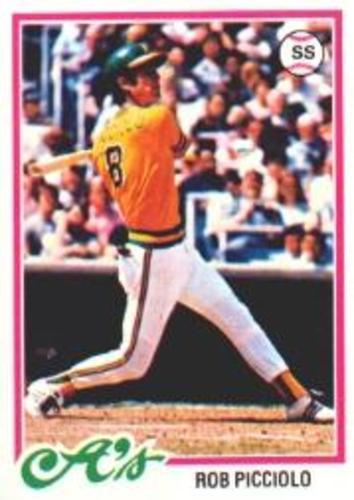 Photo of 1978 Topps #528 Rob Picciolo RC