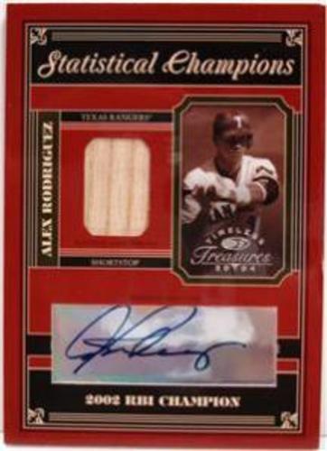 Photo of 2004 Timeless Treasures Statistical Champions Signature #66 A.Rodriguez 02 RBI Bat/10