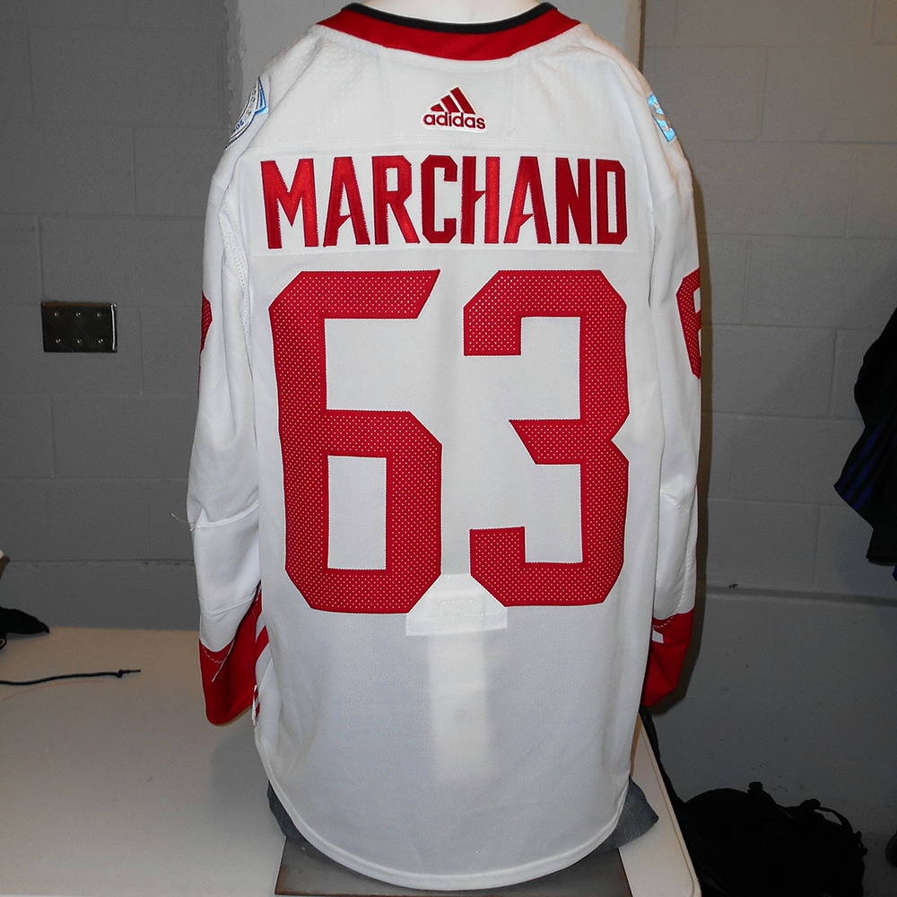 Brad Marchand Boston Bruins Game-Used Away 2016 World Cup