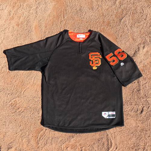 San Francisco Giants - 2017 Game-Used Batting Practice Jersey Worn by #56 Albert Suarez (Size: XL)