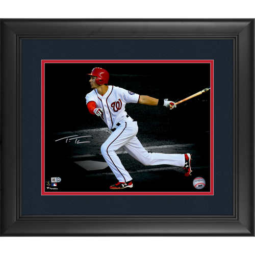 "Photo of Trea Turner Washington Nationals Framed Autographed 11"" x 14"" Spotlight Photo"