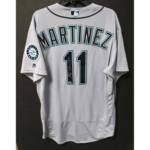 Photo of Seattle Mariners Edgar Martinez Autographed 2016 Gray Team Issued Jersey