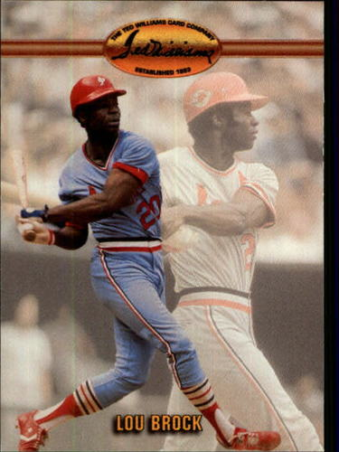 Photo of 1993 Ted Williams #86 Lou Brock