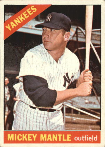 Photo of 1966 Topps #50 Mickey Mantle DP