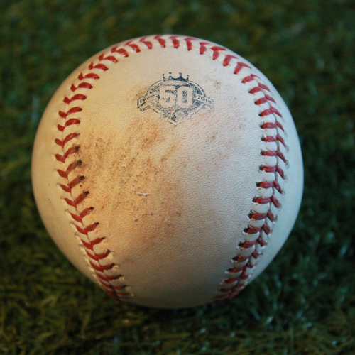 Photo of Game-Used Baseball: Joey Rickard 168th Career Hit (BAL @ KC - 9/2/18)