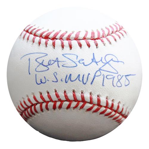 Photo of Autographed Baseball: Bret Saberhagen 1985 World Series MVP