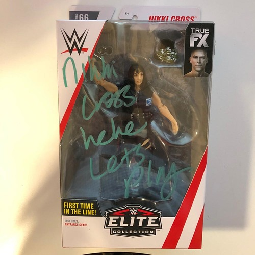 Photo of Nikki Cross SIGNED Elite Series 66 Action Figure