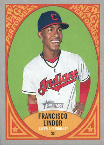 Photo of 2019 Topps Heritage New Age Performers #NAP7 Francisco Lindor