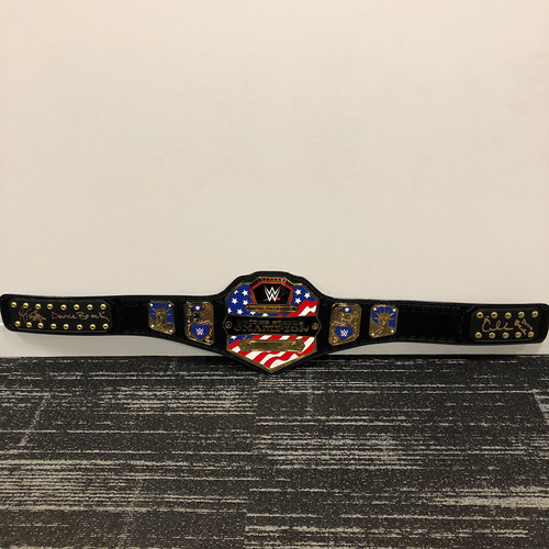 Photo of R-Truth & Carmella SIGNED United States Championship Replica Title Belt