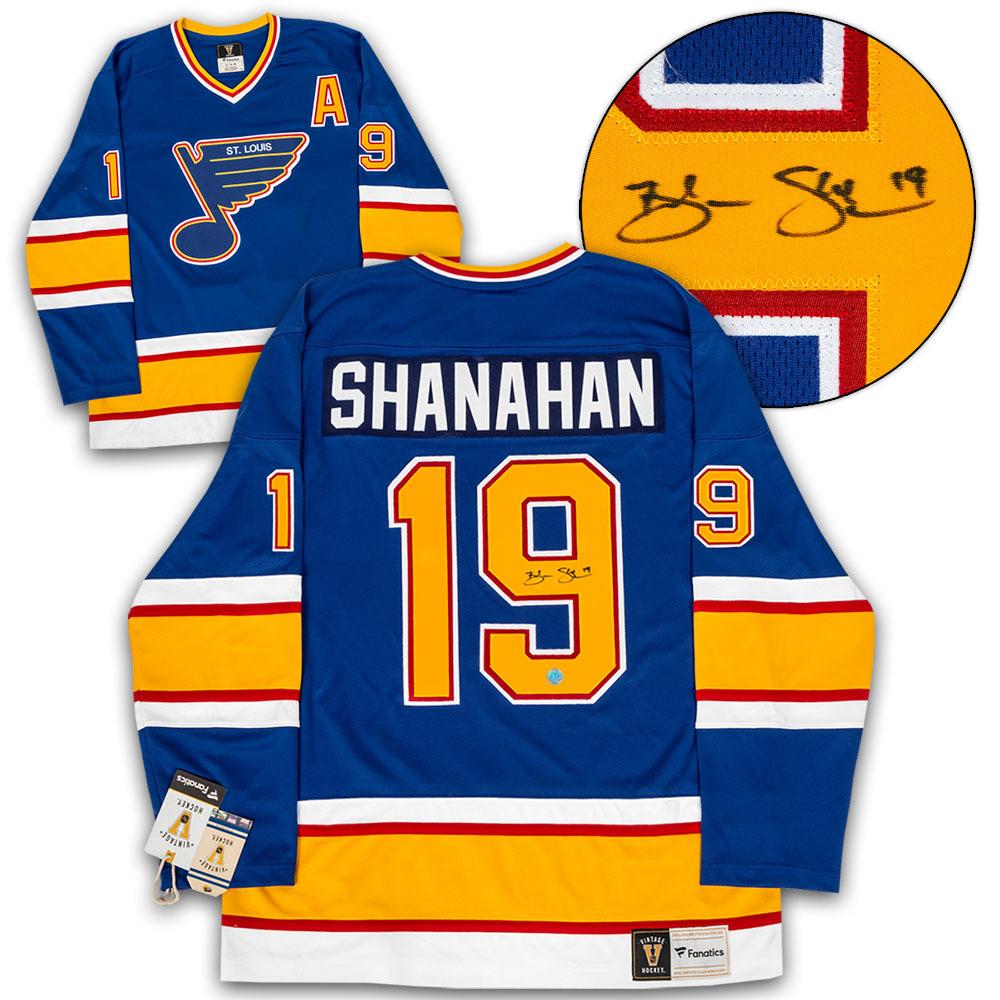 Brendan Shanahan St. Louis Blues Autographed Fanatics Vintage Hockey Jersey