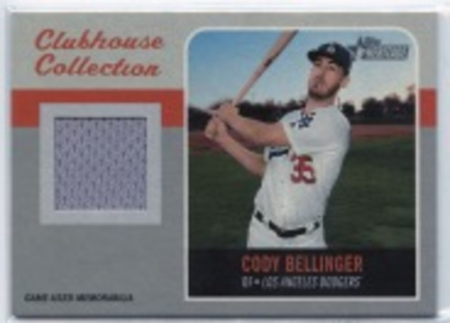 Photo of 2019 Topps Heritage Clubhouse Collection Relics #CCRCB Cody Bellinger HN