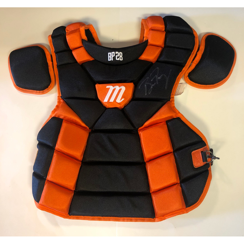 Photo of Buster Posey Autographed Giants Chest Protector