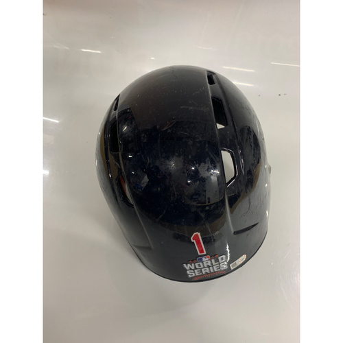 Photo of Michael Martinez Team Issued Batting Helmet - 2016 World Series Game 7