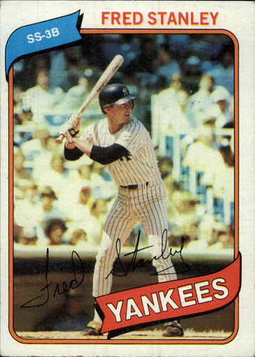 Photo of 1980 Topps #387A Fred Stanley (Yellow Name on Front)